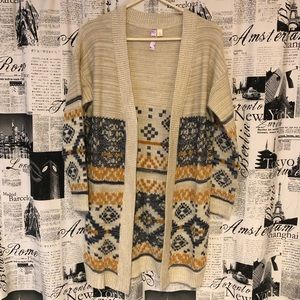 Navy/yellow Patterned Cardigan